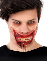Finta cicatrice zombie insanguinato