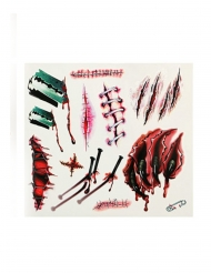 Tatuaggi ferite e graffi insanguinati