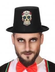 Cappello dia de los muertos nero