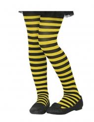 Calze a righe gialle e nere bambina