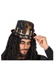 Cappello vudù nero adulto