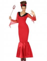 Costume da diavolo rosso per donna