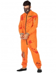 Costume prigioniero insanguinato uomo