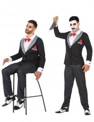 Costume pupazzo da ventriloquo per uomo