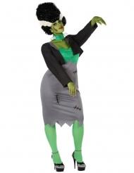 Costume mostro artificiale verde per donna taglia grande