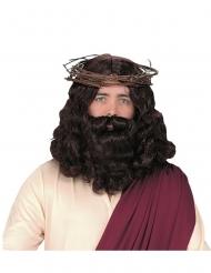 Parrucca e barba Gesù lusso