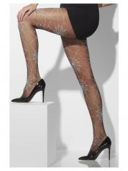 Calze nere con ragnatela per donna
