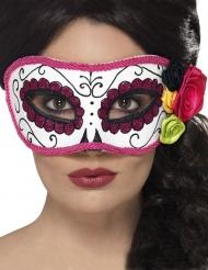 Maschera Veneziana rosa Dia de los Muertos adulto