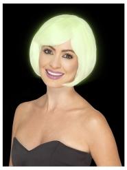 Parrucca caschetto bianco fosforescente donna