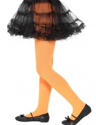 Calze arancione opaco bambina