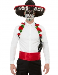Kit accessori e cappello Dia de los Muertos adulto
