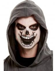 Kit trucco con tatuaggio bocca scheletro adulto