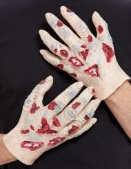 2 Mani in lattice da zombie adulto