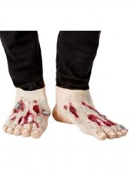 2 Copri scarpe da zombie in lattice adulto