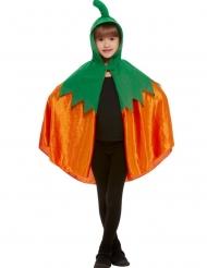 Mantello da zucca arancione e verde bambino