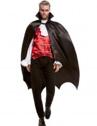 Mantello da vampiro nero satinato adulto
