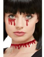 3 Adesivi sangue con brillantini per adulto