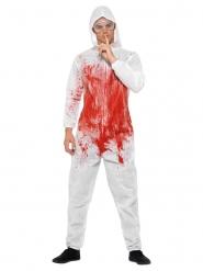 Costume serial killer insanguinato uomo
