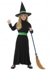 Costume piccola strega verde bambina