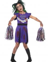 Costume Pompom Girl Zombie viola bambina