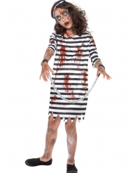 Costume zombie in catene per bambina
