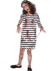 Costume zombie in catene per bambina