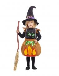 Costume piccola strega calderone bambina