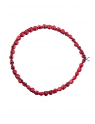 Collana con teschi rossi 54 cm adulto