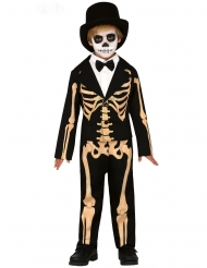 Costume da scheletro elegante bambino