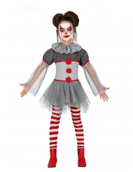 Costume da clown psicopatico con legging bambina