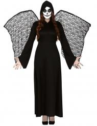 Costume angelo della morte con ali donna