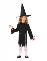 Costume strega con cappello bambina