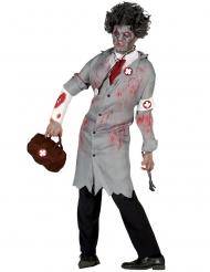 Costume dottore vintage zombie uomo