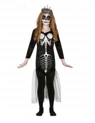 Costume scheletro sirena bambina