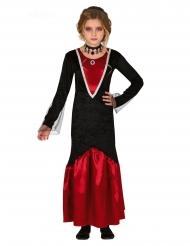 Costume vampiro rosso e nero bambina