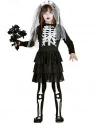 Costume da sposa scheletro bambina