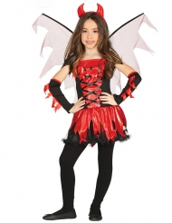 Costume diavolessa con ali bambina
