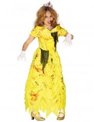 Costume principessa gialla zombie bambina
