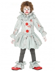 Costume clown assassino grigio bambino