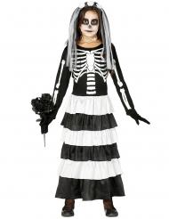 Costume giovane sposa scheletro bambina