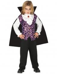 Costume giovane vampiro viola e nero bambino
