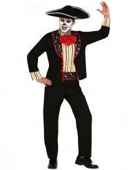 Costume messicano scheletro dia de los muertos uomo