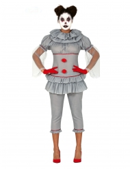 Costume clown folle con pantalone donna