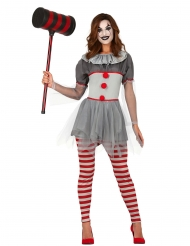 Costume clown psicopatico con legging donna