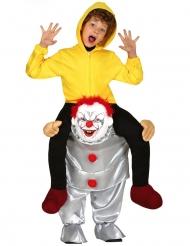 Costume sulle spalle di clown psicopatico bambino