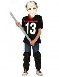Costume assassino con maschera da hockey bambino