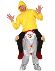 Costume sulle spalle di clown psicopatico adulto