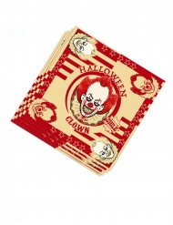 20 Tovaglioli in carta clown assassino 33 cm