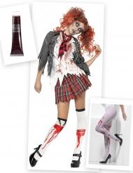 Set Costume scolaretta zombie per donna