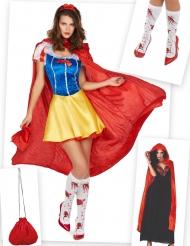 Set costume e accessori principessa delle fiabe sanguinante